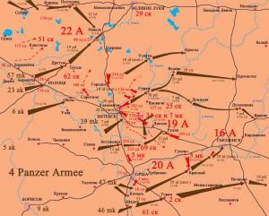 22-й Армия. 1941 год. Невель. карта