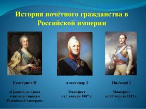 История почетного гражданства