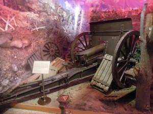 Пушка Первой мировой вооны в Центральном музее вооруженных сил