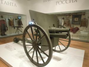 Пушка Первой мировой войны на Выставке в Историческом музее