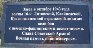 Дубище Невельскиий район 16 литовская дивизия