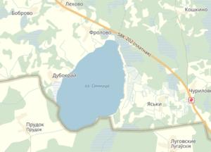 озеро Сенница Невельский район