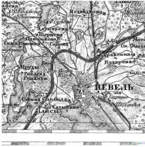 Невель карта Шуберта