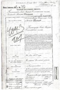 Послужной список генерала В.А. Шильдер