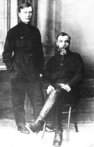 Е.А.Шильдер и К.Е.Шильдер в имении Зубарево