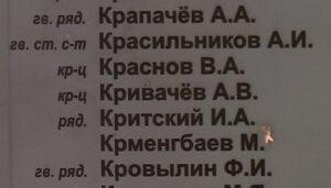 Крсильников А.И. Новохованск