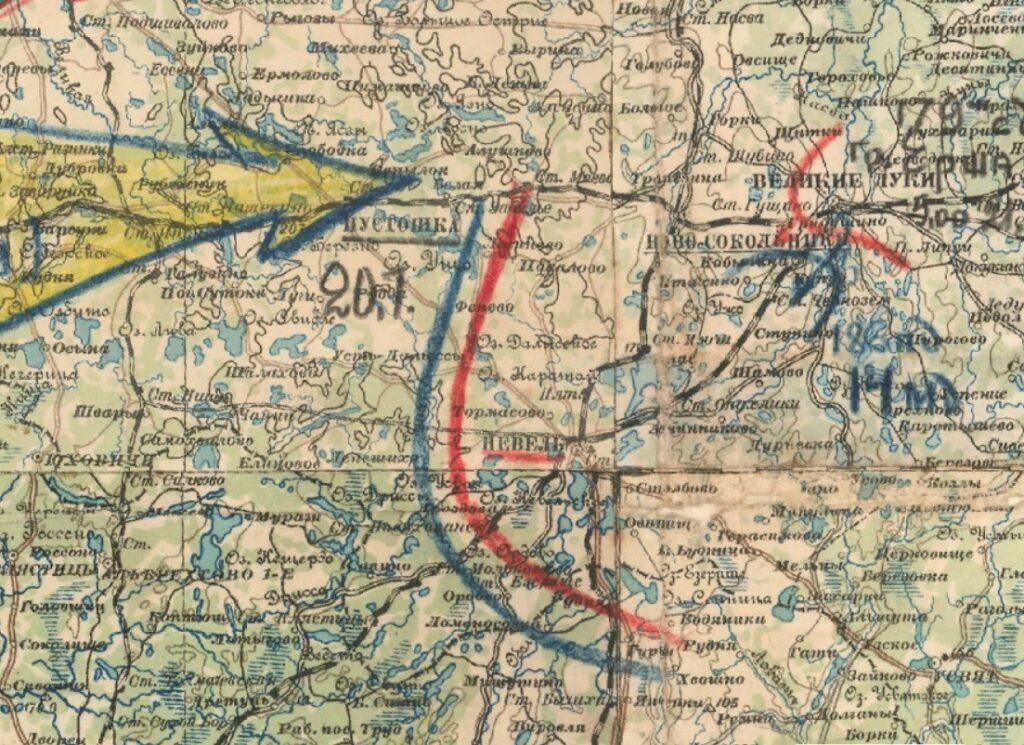 Карта июль 1941 22 А Невель