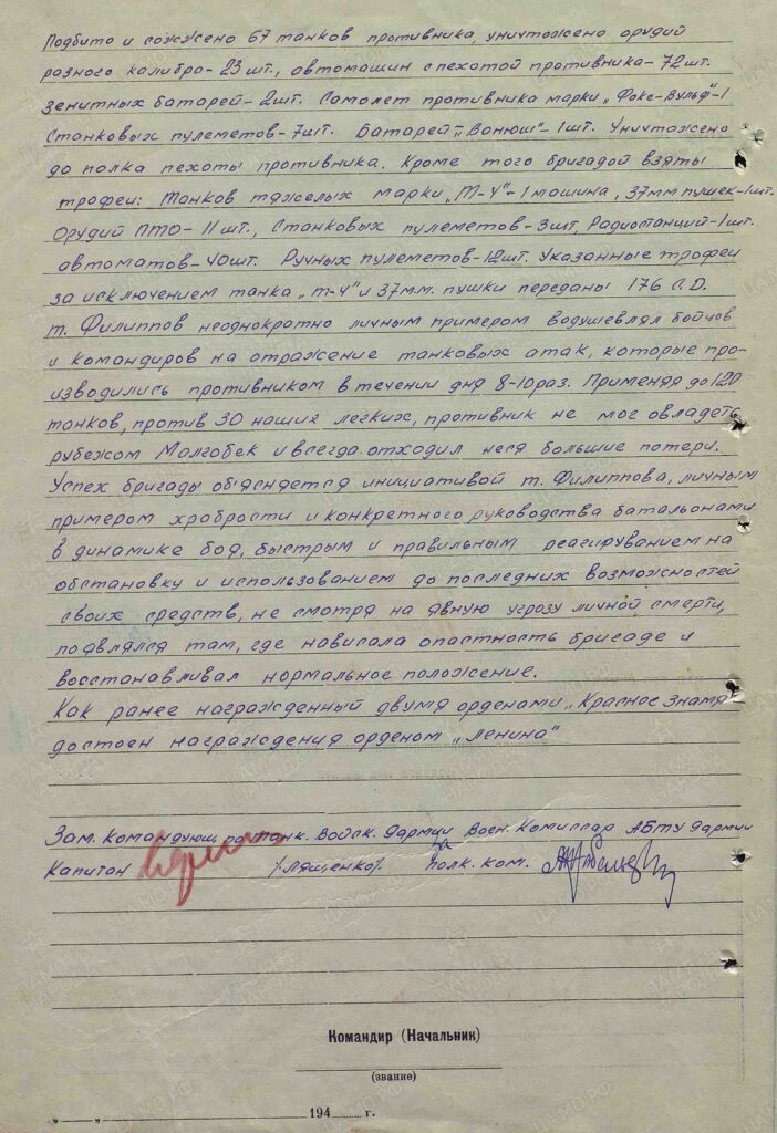 Филиппов А.И. 34 тбр